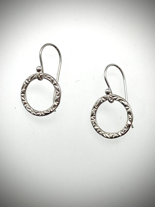 Sterling Small Circle Earrings