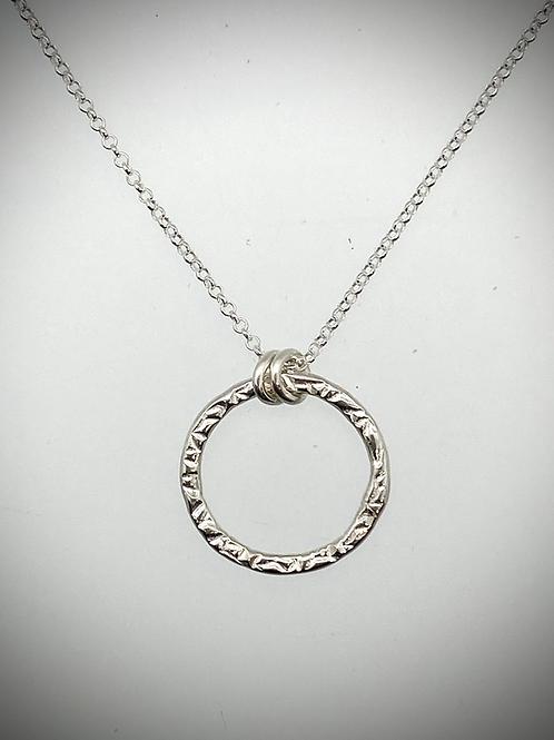 Sterling Medium Circle Necklace