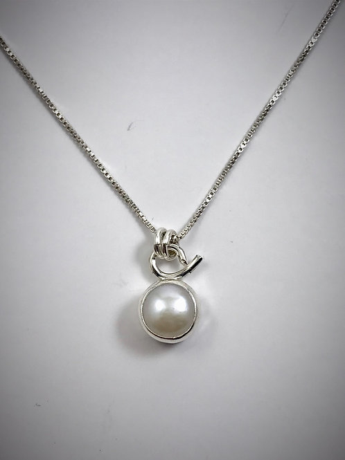 Sterling Tiny Freshwater Pearl Necklace