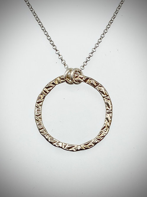 Large Sterling Circle Necklace