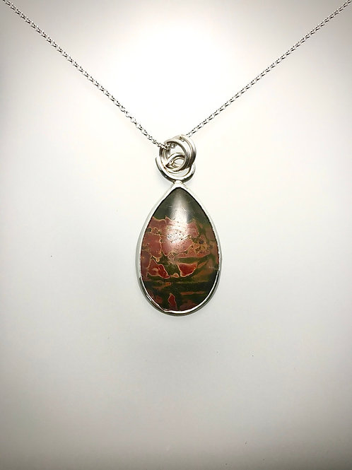 Sterling Red Creek Jasper Necklace