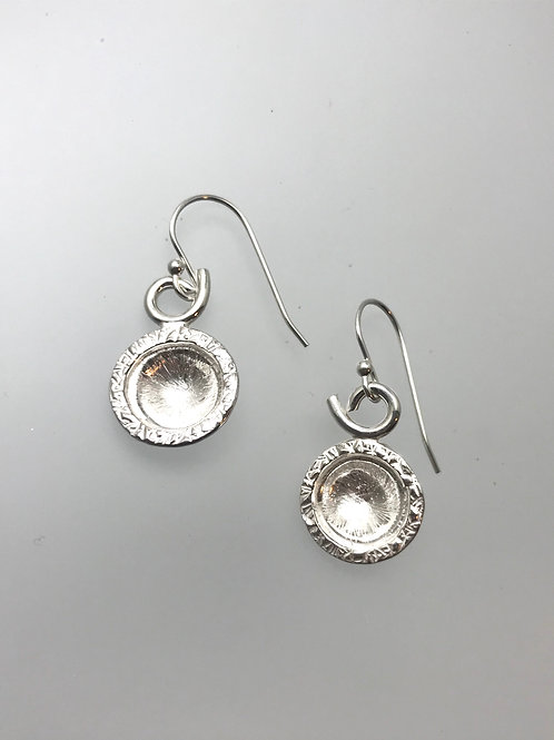 Large Sterling Silver Dome earrings