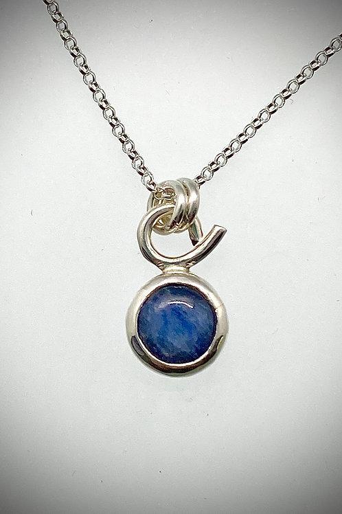 Tiny Sterling Kyanite Necklace