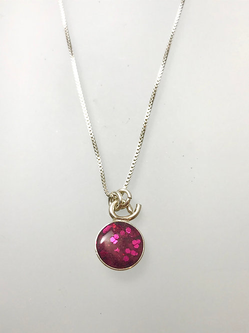 Sterling Large Raspberry Resin Necklace