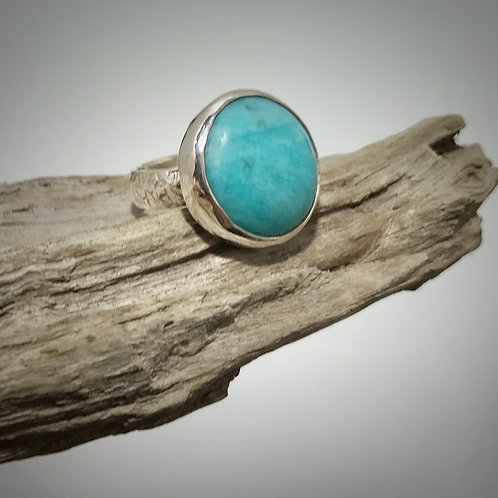 Sterling and Amazonite Ring