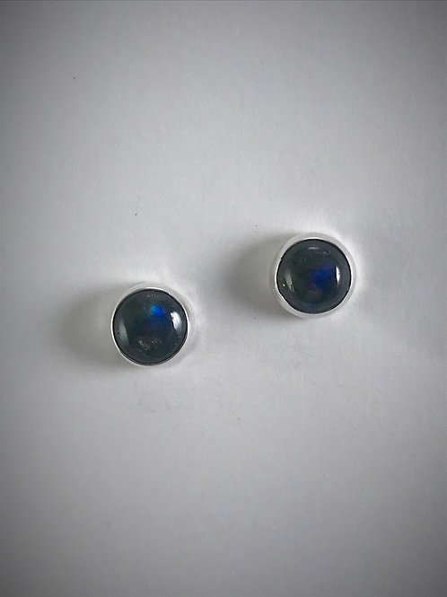 Sterling and Labradorite Post Earrings