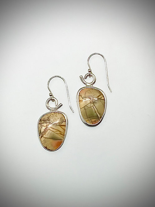 Sterling Red Creek Jasper Earrings