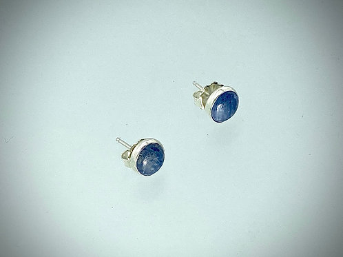 Sterling Kyanite Post Earrings