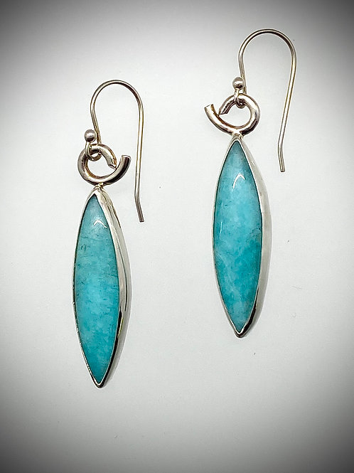 Amazonite Marquis Earrings