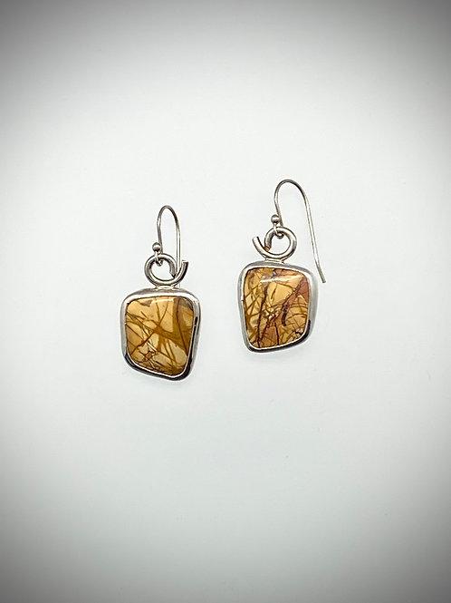 Sterling Silver Earrings with Red Creek Jasper