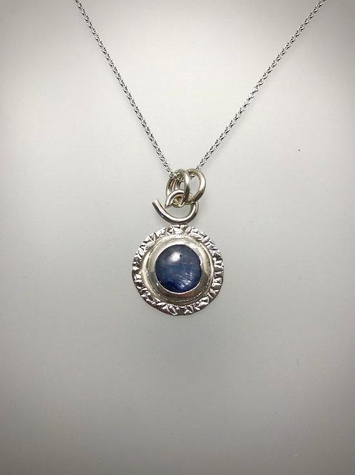 Sterling Kyanite Frame Necklace