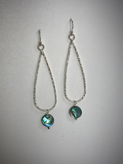 Sterling Abalone and Large Teardrop Earrings