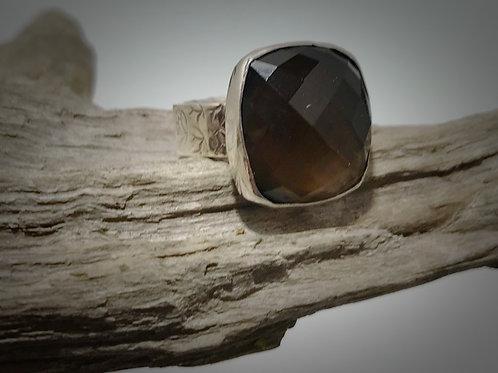 Sterling and Smokey Quartz Ring