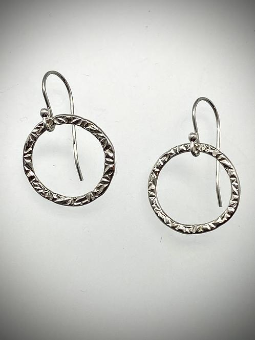 Sterling Medium Circle Earrings