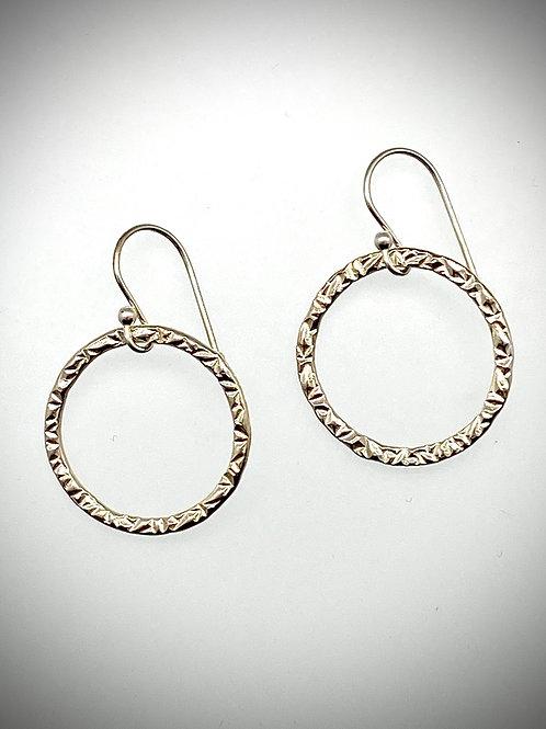 Sterling Large Circle Earrings