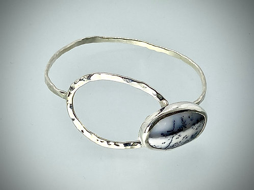 Sterling Dendritic Opal Eclipse Bracelet
