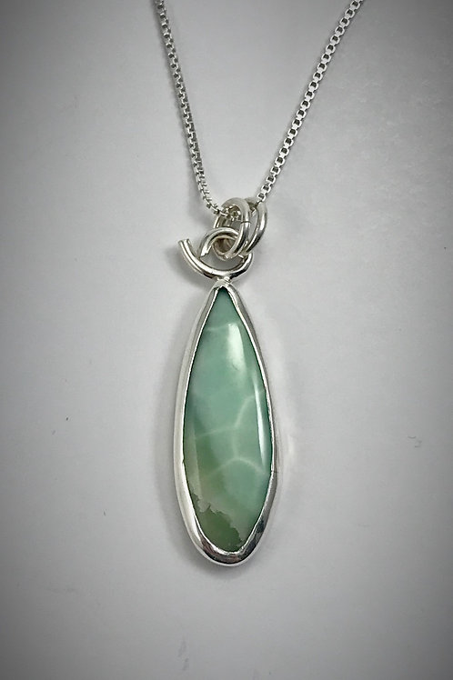 Sterling and Green Argonanite Necklace