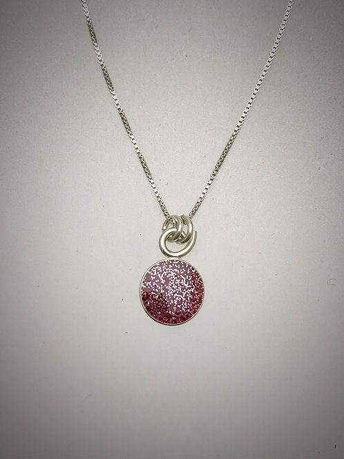 Tiny Sterling Kunzite Resin Necklace
