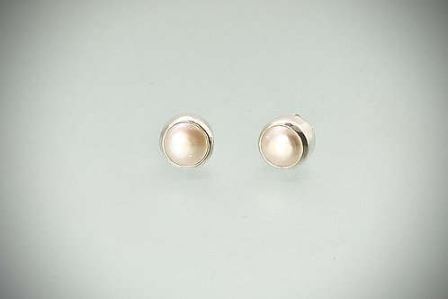 Sterling Freshwater Pearl Post Earrings