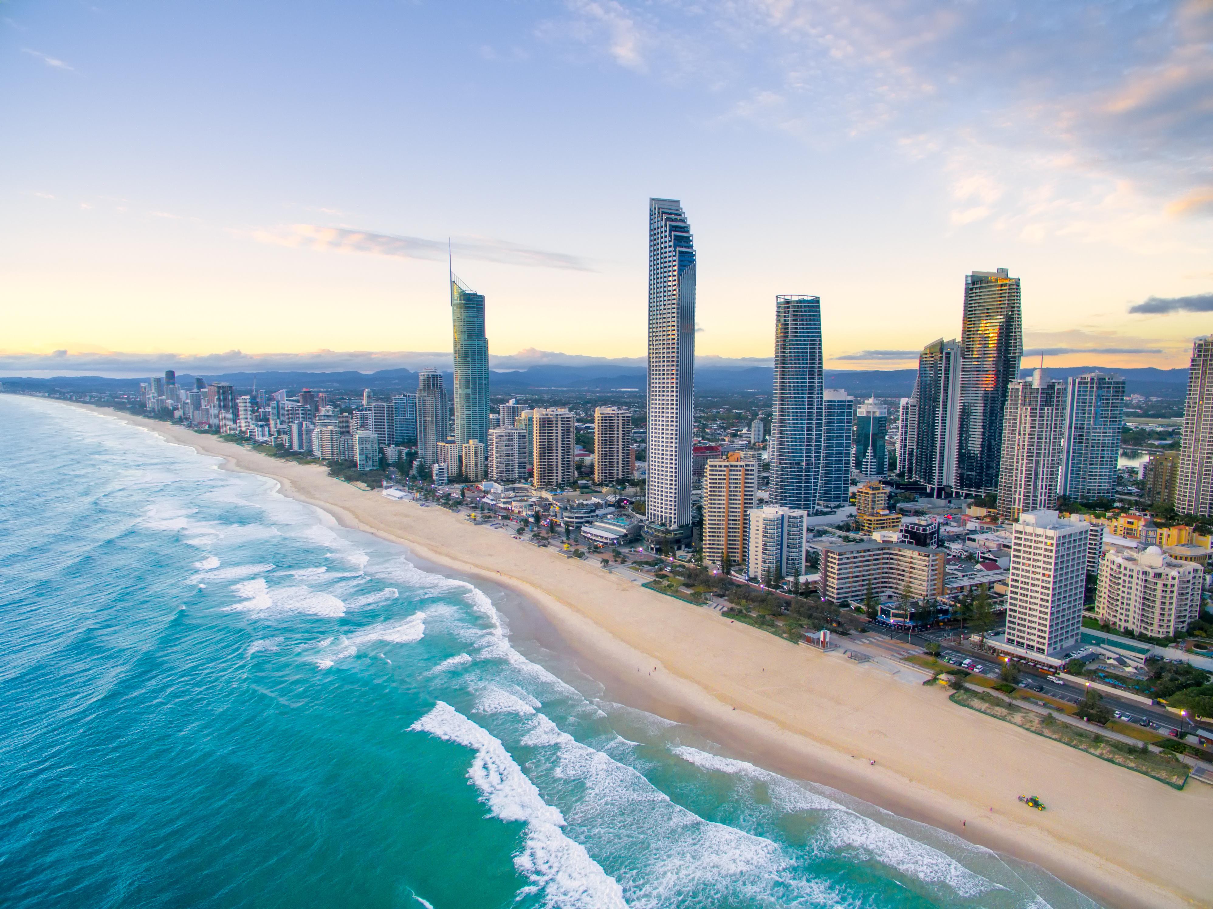 Brisbane Beach Skyline