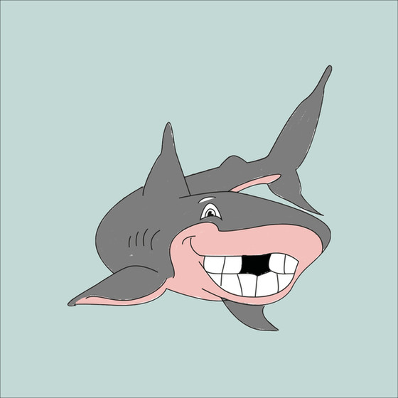 Shark Illustration for Granadilla Swim