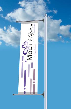 Mooi-Papillon Telescopic Banner