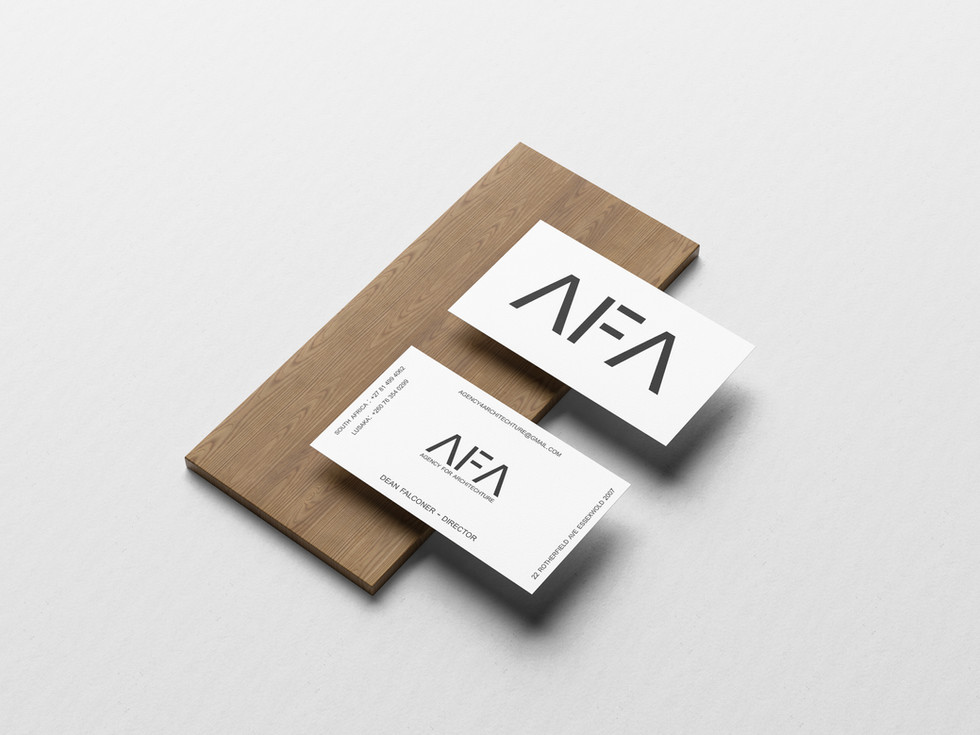 AFA White Business Cards
