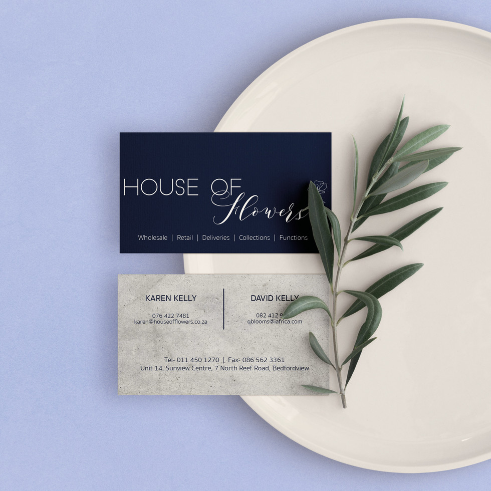 House of Flowers Business Cards