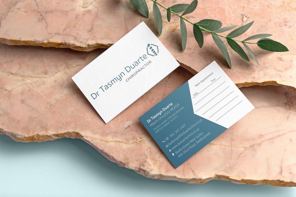 Dr Tasmyn Duarte Chiropractor Business Cards