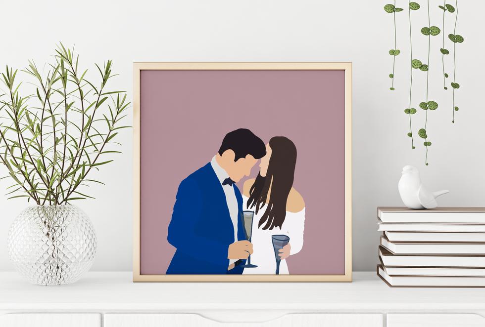 Minimalist Portrait Couple