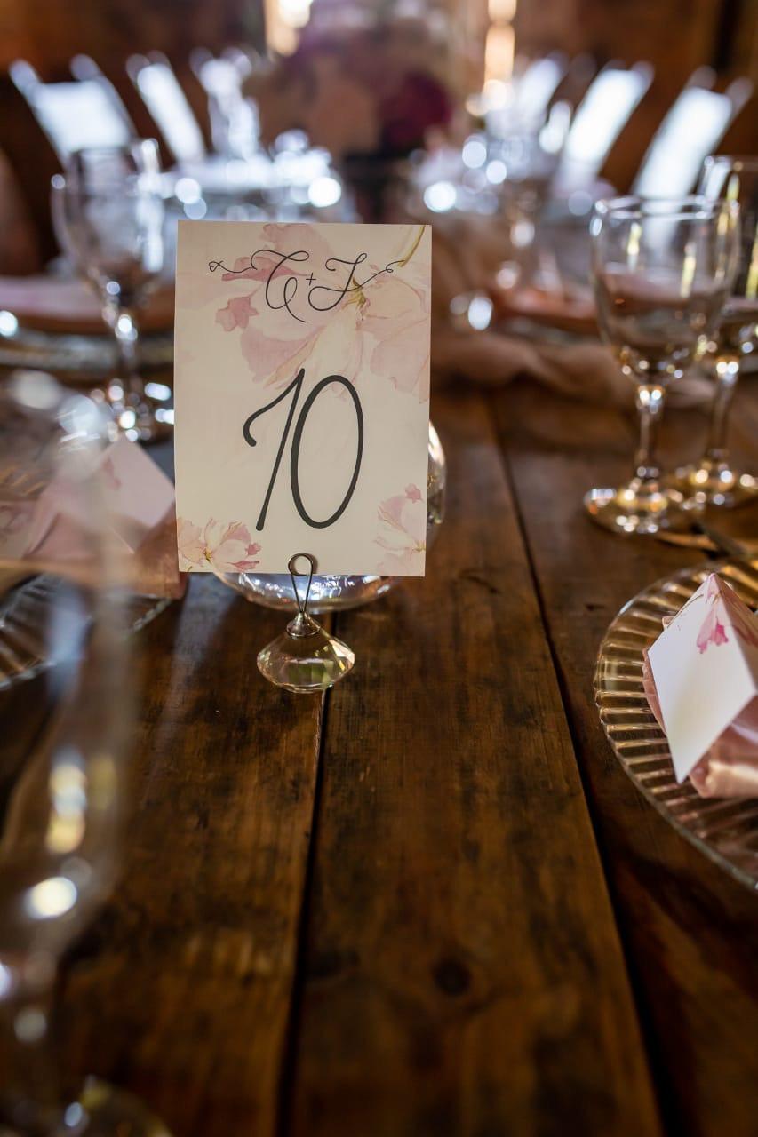 Christelle & John Table Numbers