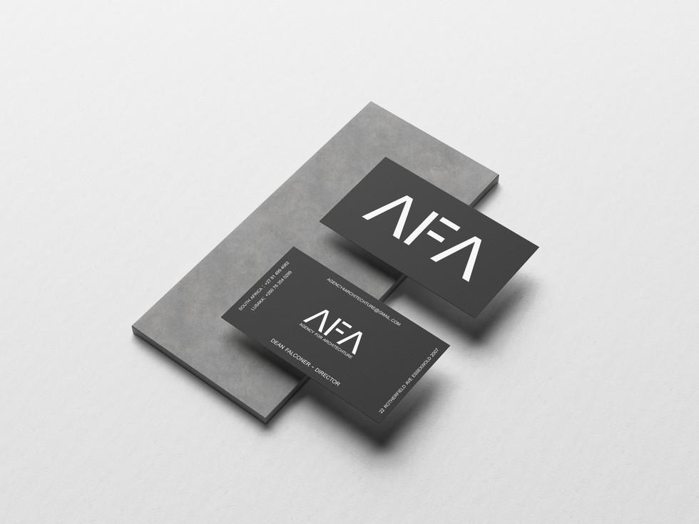AFA Black Business Cards