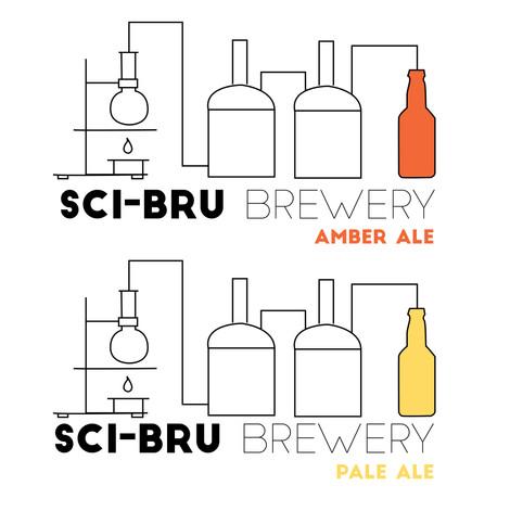 Sci- Bru Logo Variations