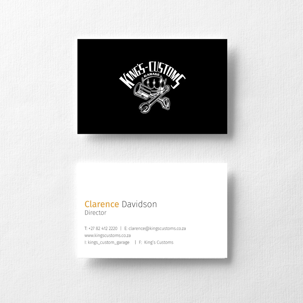 King Customs Business Cards