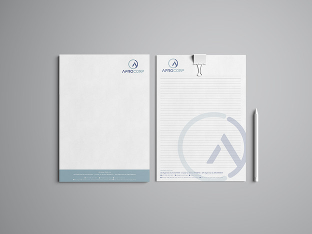 AfroCorp Letterhead & Notebook