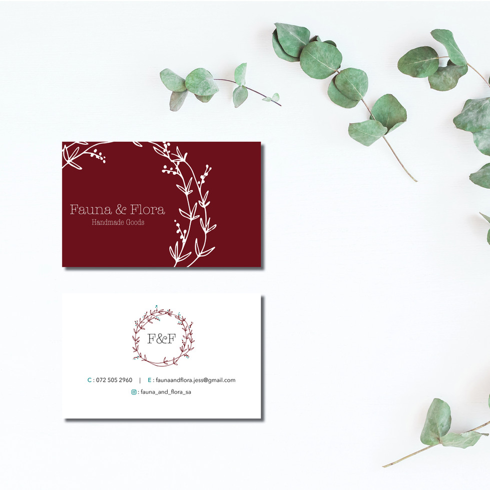 Fauna and Flora Business Cards