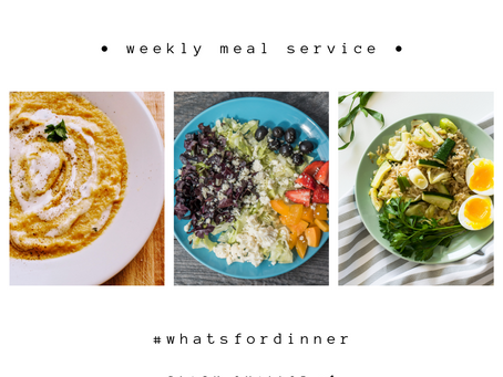 Weekly Meal Service | September 1