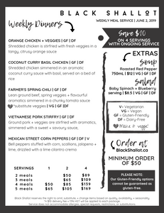 Gluten-friendly, dairy-friendly, vegetarian, and vegan meal delivery