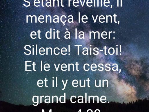 Dieu peut calmer votre tempête.