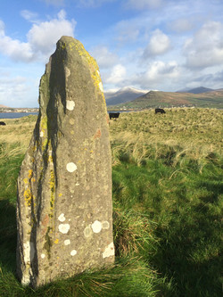 Ogham Stone on the shore of Smerwick