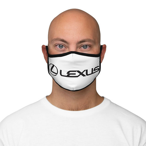 WHT/BLK  Fitted Polyester Face Mask