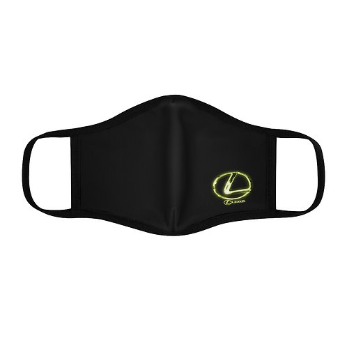 LIGHT GRN LOGO Fitted Polyester Face Mask