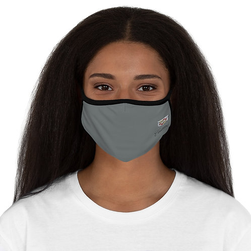 Cadillac GRAY/BLK Fitted Polyester Face Mask