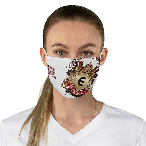 Scannable Exposed Logo Fabric Face Mask