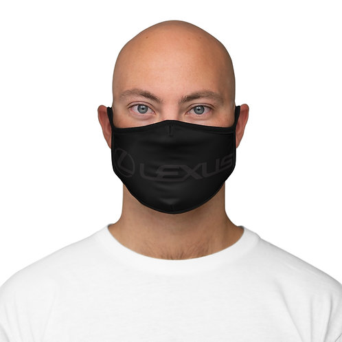 BLK/BLK PROFESSIONAL Fitted Polyester Face Mask