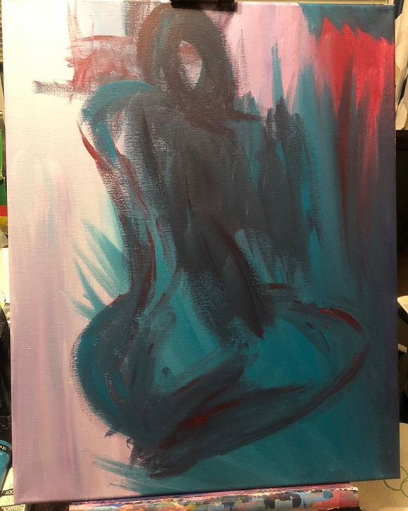 #abstractpainting #acrylic #sillouette #