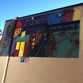 Mural at Minerva's Pizza 🍕 #Minervaspiz