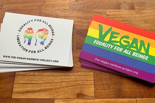 "Postcards: 2 x 20 Pieces ""Rainbow"" & ""Fist-Paw"""