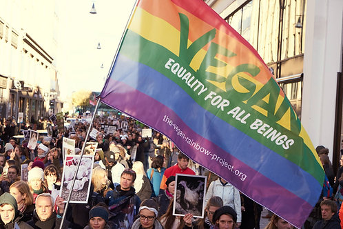 "Flag: ""Vegan - Equality for all beings"""