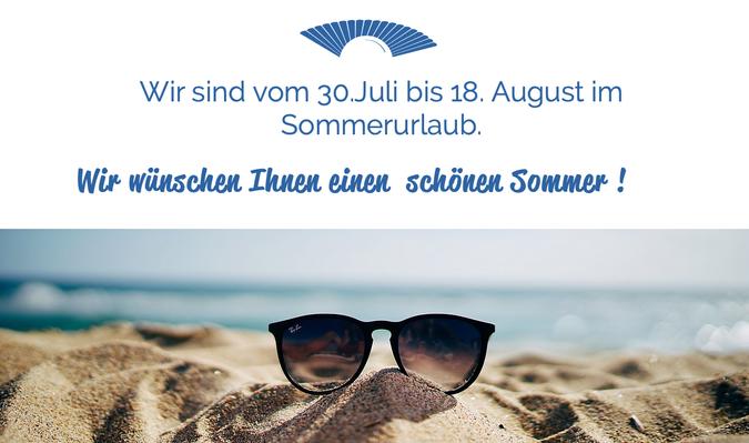 Info Sommerurlaub 2019